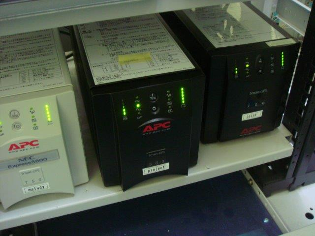 UPSバッテリ交換